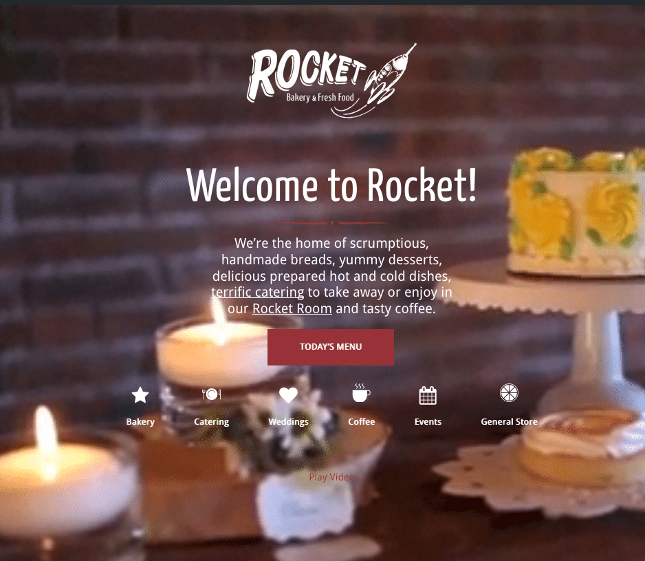 Website Design and Development for Rocket Bakery