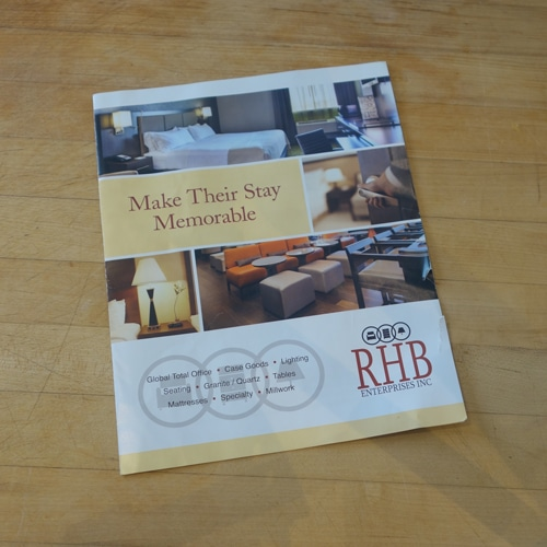Brochure for RHB Enterprises Inc