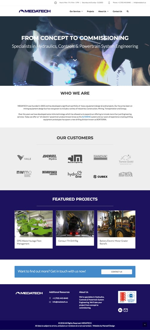 Medatech Website