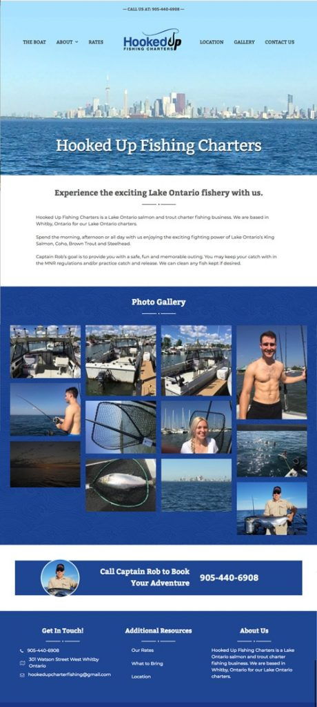 Hooked Up Fishing Web Design
