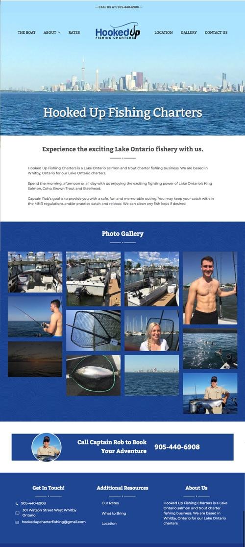Hooked Up Fishing Web Design